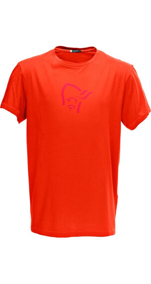 Norrøna M's /29 cotton logo T-Shirt Hot Chili